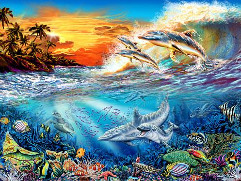 Найди 19 дельфинов